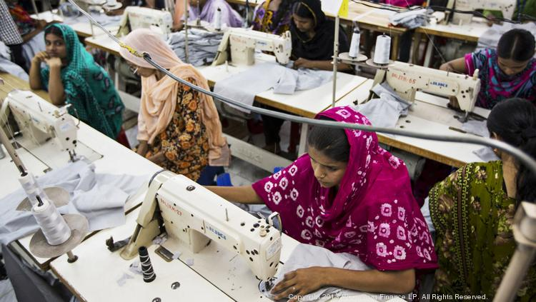 VF. Corp and other major U.S. apparel brands say they are making progress in ensuring that contract factories like this one in Bangladesh are improving safety for their workers.