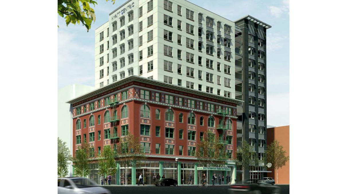 Sacramento Preservation Commission Roves Plan To Build Hyatt Centric Hotel Behind Facade Of Marshall Business Journal