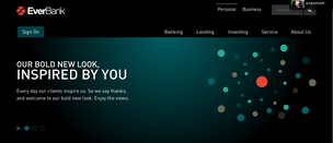 Here's a look at EverBank's newly rebranded website.  Click here to see the website.