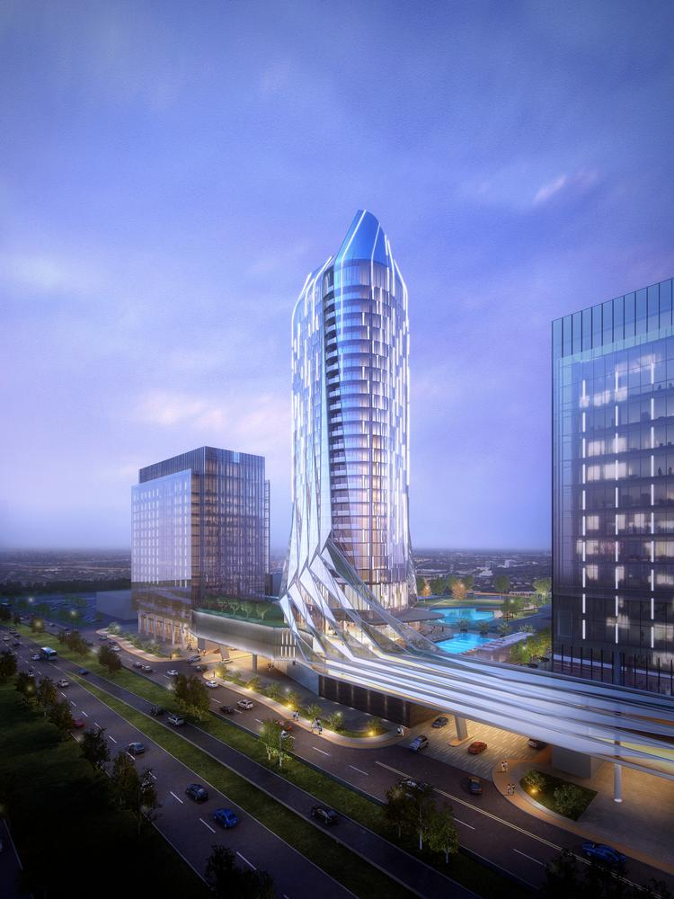 The 35-story hotel and residential tower is slated to open in 2018.