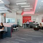 Is it a bank or restaurant? Leader Bank's new Seaport branch boasts comfy seats, barstools