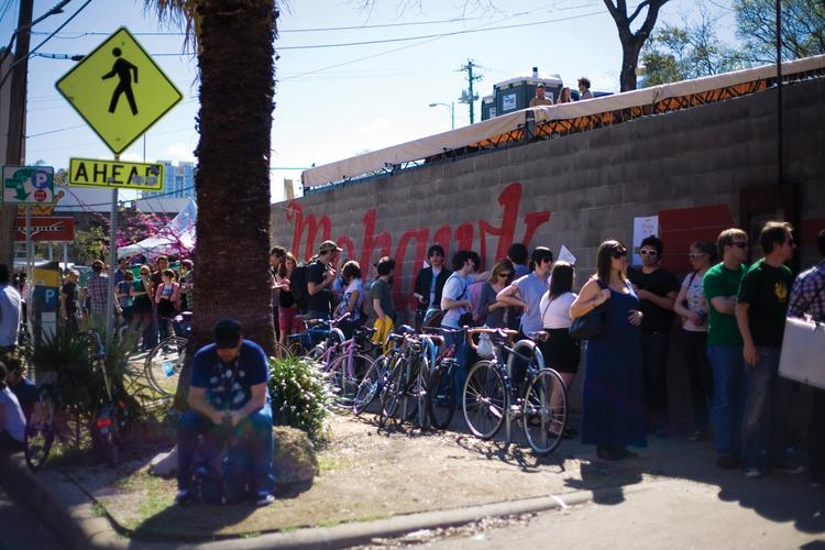 An international crowd packed Red River Street during March's South By Southwest music festival.