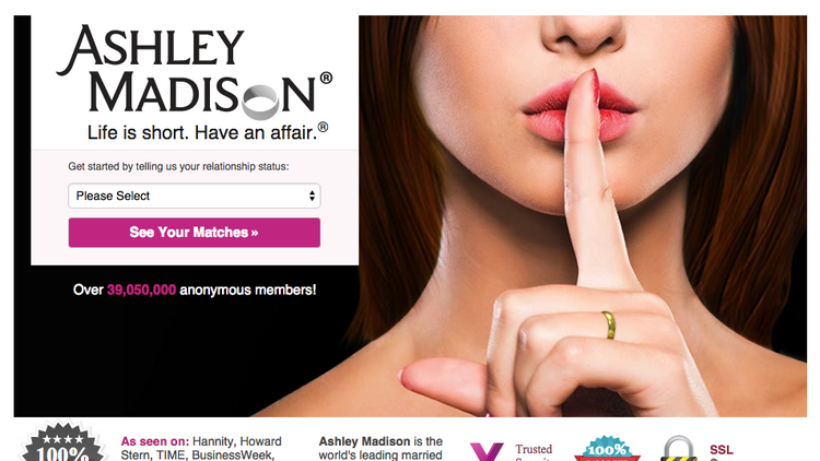 Adultuer site, Ashley Madison, had 119 email addresses from