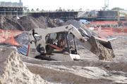 Excavation of the resort pool area is well under way.
