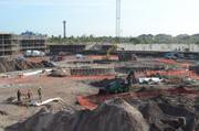 The future site of the resort pool as seen from the third level of building A.