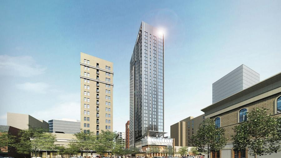 White Lodging Corp Set To Begin Work On Aloft Element Dual Hotel Tower Congress Avenue Austin Business Journal