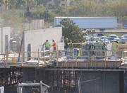 Across the site, the second level of building C begins to take shape.
