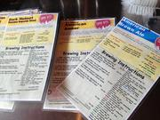 Recipe cards show the ingredients, amounts and process of making different kinds of beer.
