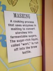 Mashing, the next part of the brewing process.