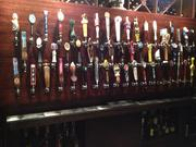 All the tap handles of the different kinds of beers sold through the adjoining Hough's Taproom & Brewpub, where visitors to Copper Kettle Brewing Co. can step over into to try beers made both in-house as well as established brands of craft beer. Hough said Hough's Bar offers 61 beers on tap and more than 200 in bottles and cans.