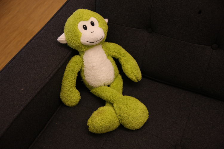 SurveyMonkey's main greeter welcomes visitors to its U.S. Bancorp Tower offices.