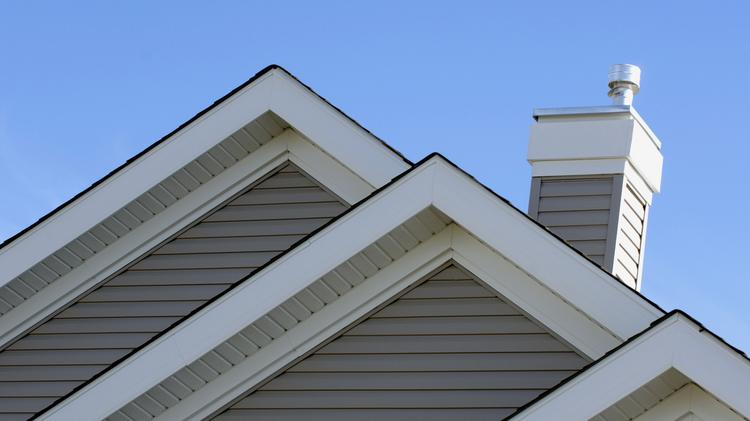 Architectural detail of house gables