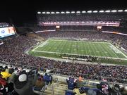 New England Patriots vs Baltimore Ravens in NFL Divisional playoff game at Gillette Stadium, January 10, 2015.