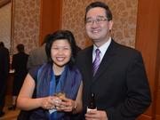 Food Shuttle supporter, and CEO of BioResource International, Giles Shih, right, along with his wife May.
