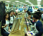 Improving Enterprises held a painting night.