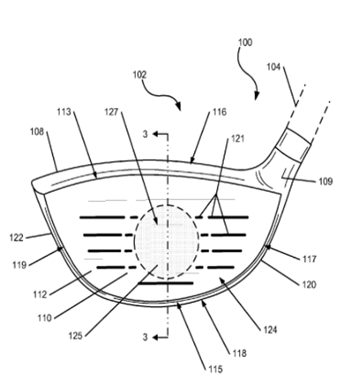 This Nike golf patent is for a thermal club face that can download data about a player's swing.