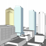 Two-tower project will sandwich the Seattle Times, demolish 13 Coins building