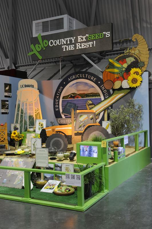 Yolo County, which shows off each year at the California State Fair, above, also boasts of its riches 24/7 online.
