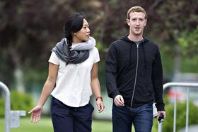 Mark Zuckerberg, chief executive officer and founder of Facebook Inc., and his wife Priscilla Chan led the list of individual philanthropists in 2013, the youngest to ever do so.