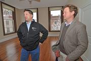 Sonny Bonacio (left) and business partner Mark Haworth have spent $1.46 million on four buildings in downtown Troy in less than year. They'd like to see a single-screen movie theater at the former Cinema Art on River Street, and are planning other investments at their properties.