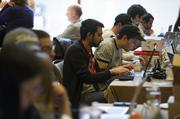 Attendees work on startup projects at the South By Southwest Conference on Sunday, March 10.
