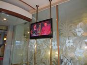 Flat-screen TVs from across the hotel will be sold.
