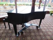 The piano was a feature of the lobby.