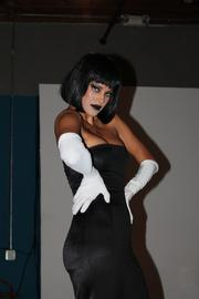 One model reflects the black part of the party's theme.