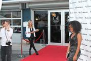 Guests were greeted with a red carpet. Pictures were taken with a wireless camera so images could be sent via text to guests within a few minutes.