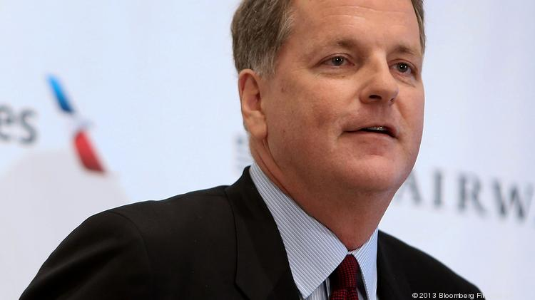 Doug Parker, CEO of American Airlines, faced criticism Wednesday from retirees upset about changes to the flight benefit system.