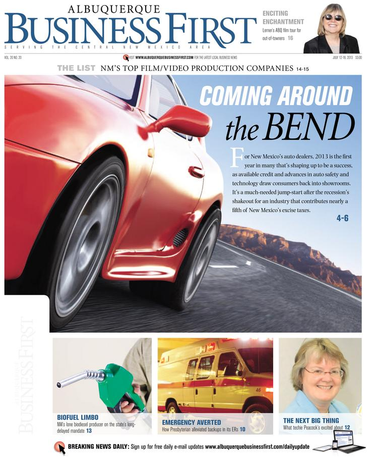 In this week's issue of Albuquerque Business First, Reporter Dan Mayfield took New Mexico's auto industry for a test drive and found that the state's dealers are poised to have their best year in almost a decade.