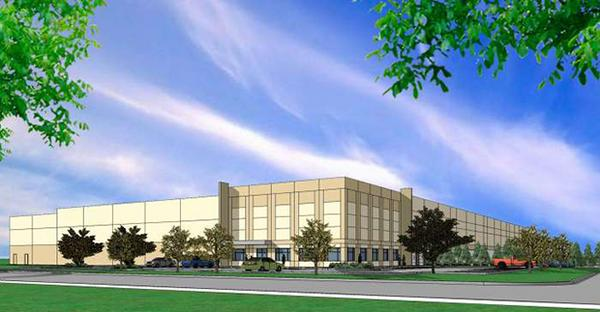 Rendering of Scannell Properties' proposed Valley View Business Center