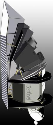 A rendering of what the B612 Foundation's space telescope would look like. It would be designed by Ball Aerospace.