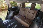 The back seat in the 2013 Infiniti JX.