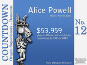 #12. Alice Powell - Owner, Powells Books  Total contributions: $53,959