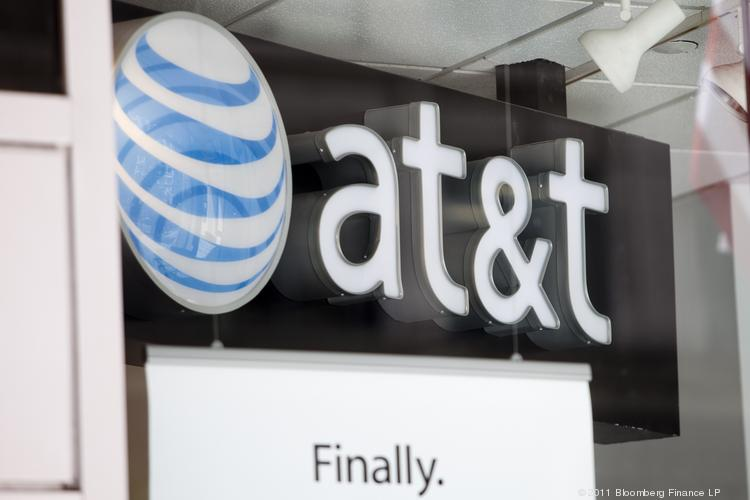 AT&T is one of several companies reporting quarterly earnings on Wednesday.