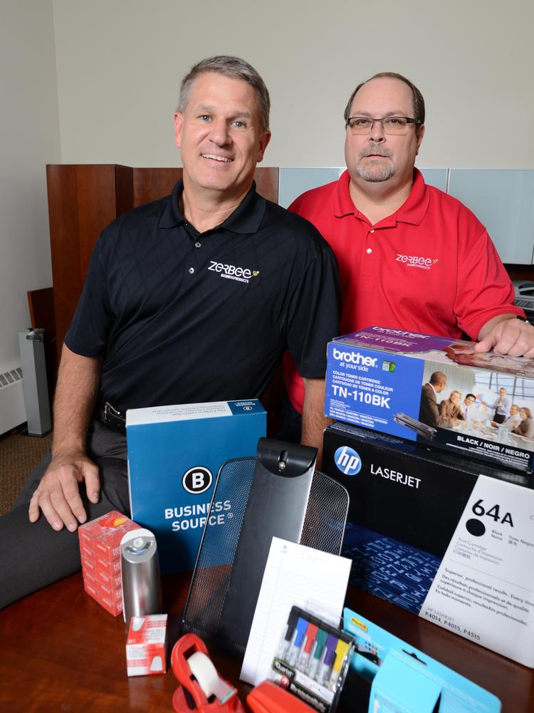 Stephen Unruh, Left, And John Jordan Lead Zerbee Business Products, Which  Ranked 154th