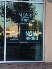 Bonefish Grill is hiring 100 workers for its new location opening next month in the Waterford Lakes area in east Orlando.
