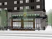 A rendering submitted to the city of Minneapolis shows Fresh Time Farmers Market in a new development at 2929 University Ave. S.E.