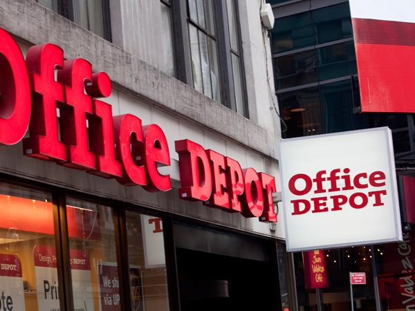 Office Depot has recently completed a $1.2 billion all-stock merger with OfficeMax.
