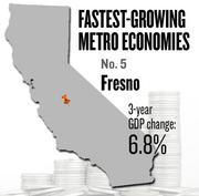 No. 5 -- Fresno, where the metropolitan GDP rose by 6.8 percent in three years to $31 billion in 2011.