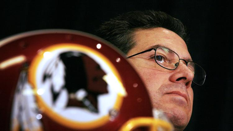 """Dan Snyder is creating the Washington Redskins Original Americans Foundation, an organization that will """"serve as a living, breathing legacy — and an ongoing reminder — of the heritage and tradition that is the Washington Redskins."""" Photographer: Jay Westcott/Bloomberg News"""