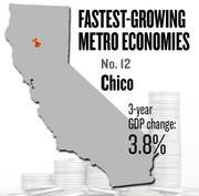 No. 12 -- Chico, where the metropolitan GDP rose by 3.8 percent in three years to $6 billion in 2011.