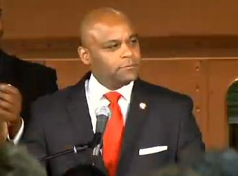 Denver Mayor Michael Hancock delivering his State of the City address on July 15.