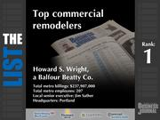 1: Howard S. Wright, a Balfour Beatty Co.  The full list of top commercial remodelers - including contact information - is available to PBJ subscribers.  Not a subscriber? Sign up for a free 4-week trial subscription to view this list and more today