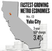 No. 13 -- Yuba City, where the metropolitan GDP rose by 3.4 percent in three years to $5 billion in 2011.