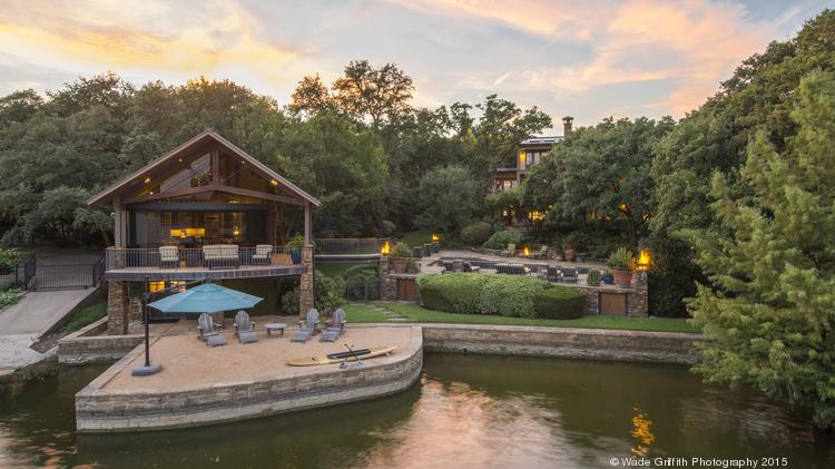 The Texas-style retreat sits on Eagle Mountain Lake, which is about 30 minutes outside of downtown Fort Worth.