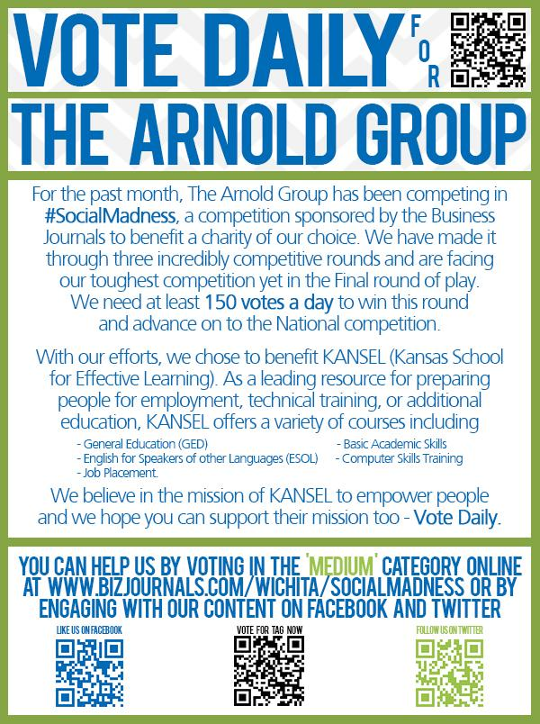 The Arnold Group did some non-social marketing to help gain supporters in Social Madness, such as sending out emails like this one.