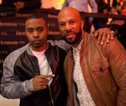 Nas, left, with Common.