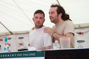 And the winner is...Genoa Executive Chef Jake Martin, left, and sous chef Matt Elswick wait to hear who won the Country Chef Challenge. They came up just short.